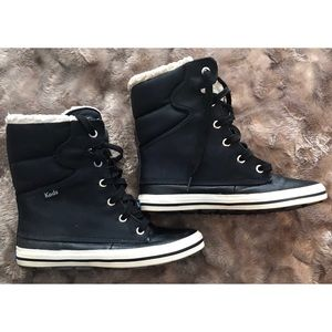 Keds Winter Boot Sneaker Black and White